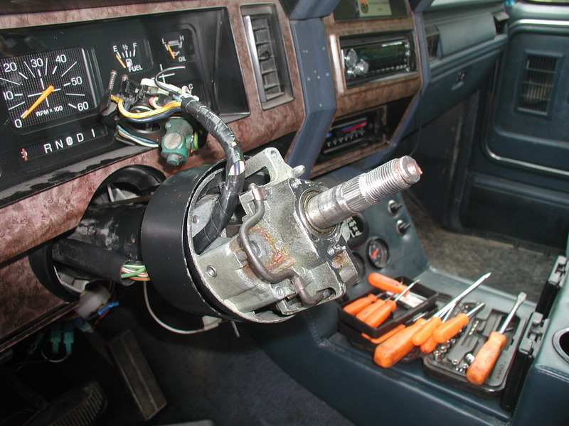 ignition actuator replacement on an '85 w tilt ford bronco forum 1977 ford f-150 wiring diagram 1978 f250 steering column wiring diagram #41