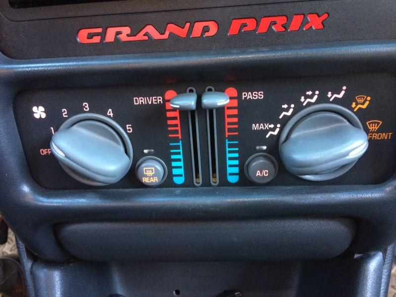 HVAC Control Panel ACDelco GM Original Equipment fits 04-08 Pontiac Grand Prix
